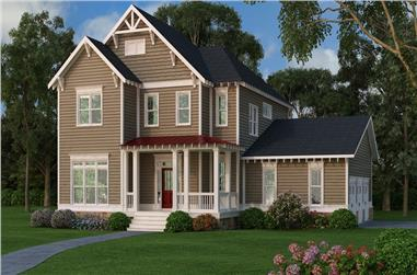 4-Bedroom, 3048 Sq Ft Country House Plan - 104-1205 - Front Exterior