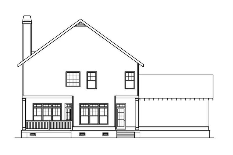 104-1206: Home Plan Rear Elevation