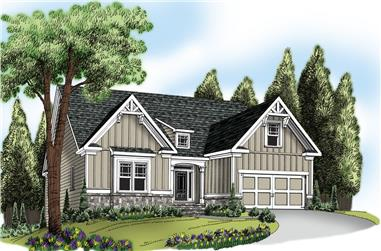3-Bedroom, 2234 Sq Ft Craftsman Home Plan - 104-1207 - Main Exterior
