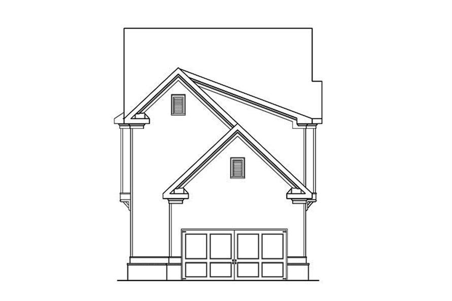 104-1208: Home Plan Rear Elevation