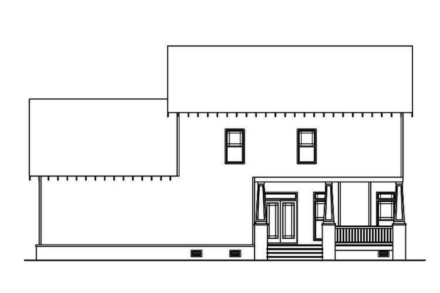 Home Plan Rear Elevation of this 4-Bedroom,2707 Sq Ft Plan -104-1210