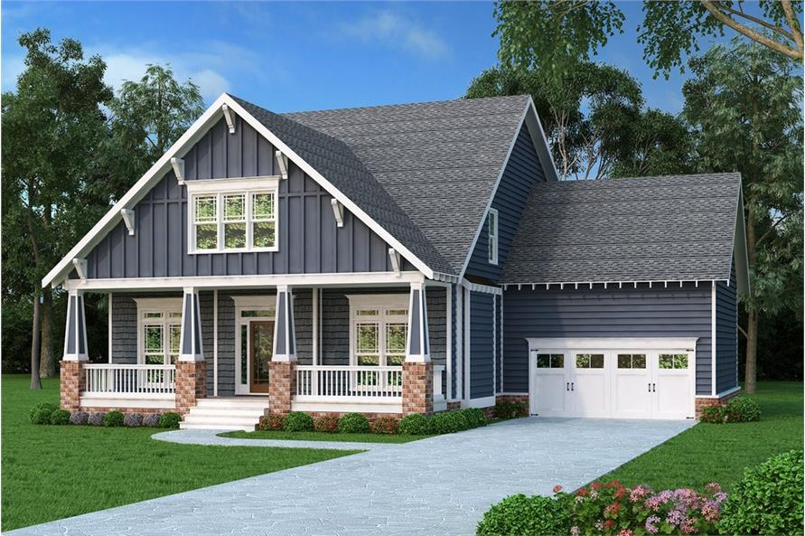 4-Bedroom, 2707 Sq Ft Craftsman House Plan - 104-1210 - Front Exterior