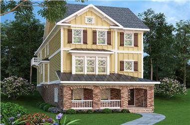 4-Bedroom, 3430 Sq Ft Coastal House Plan - 104-1211 - Front Exterior