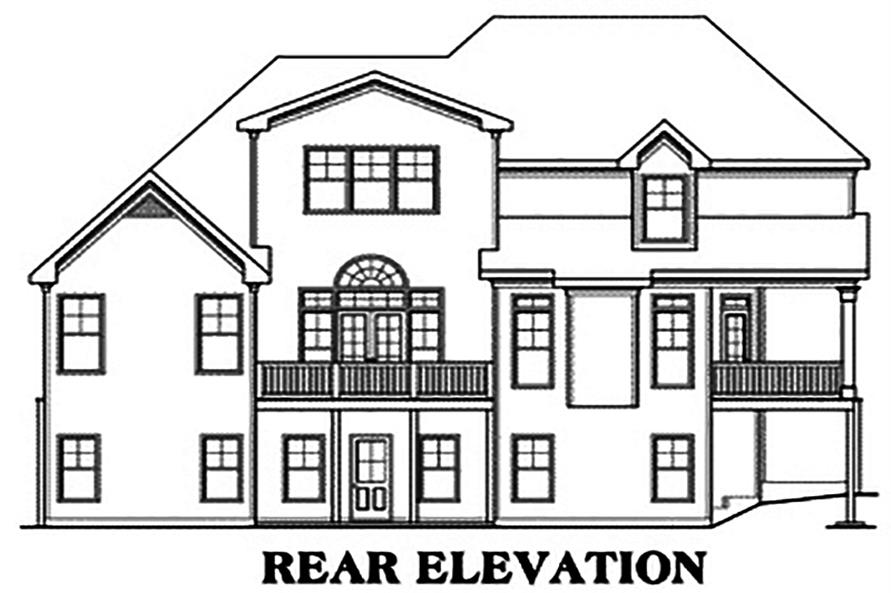 104-1212: Home Plan Rear Elevation