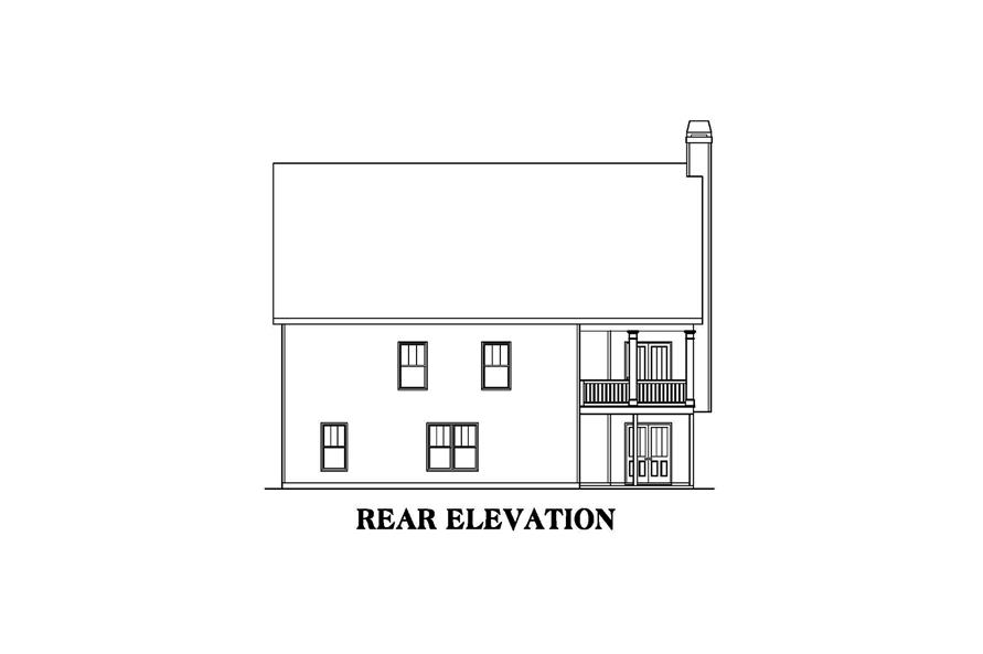104-1213: Home Plan Rear Elevation