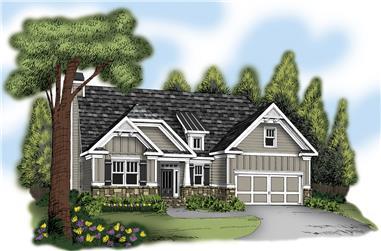 3-Bedroom, 2084 Sq Ft Craftsman Home Plan - 104-1213 - Main Exterior