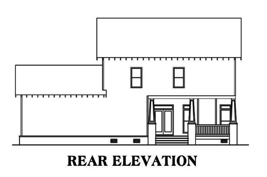 104-1214: Home Plan Rear Elevation