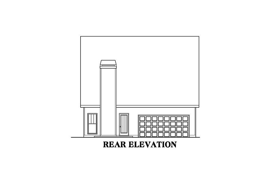 104-1215: Home Plan Rear Elevation
