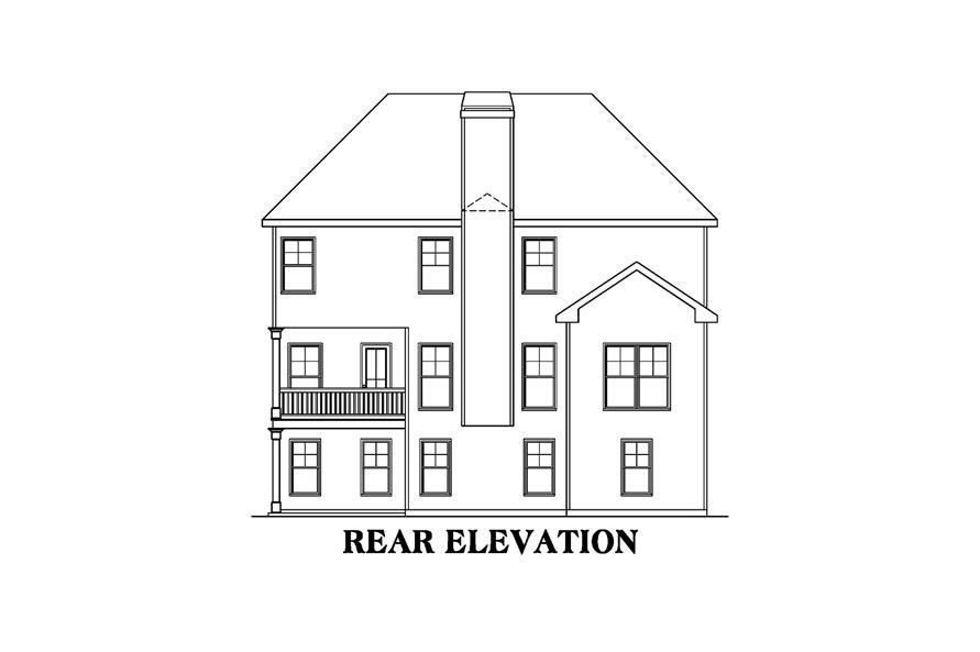 104-1216: Home Plan Rear Elevation