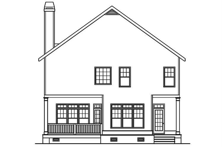 104-1217: Home Plan Rear Elevation