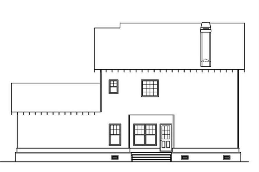 104-1218: Home Plan Rear Elevation
