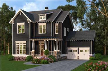 4-Bedroom, 3048 Sq Ft Craftsman Home Plan - 104-1218 - Main Exterior