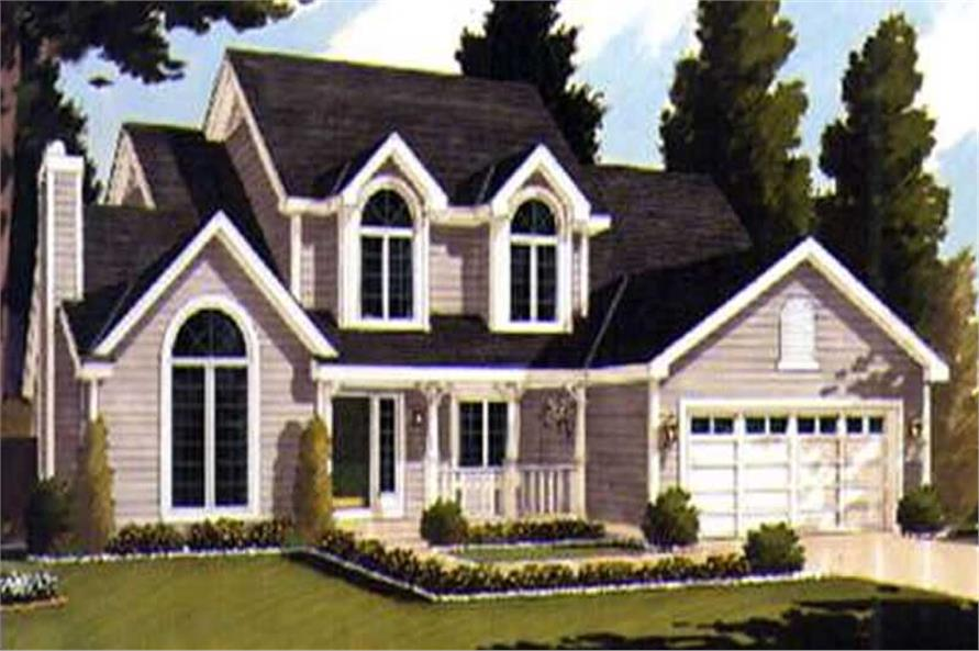 4-Bedroom, 2196 Sq Ft Country Home Plan - 105-1000 - Main Exterior