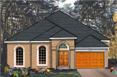 4-Bedroom, 2266 Sq Ft European House Plan - 105-1005 - Front Exterior