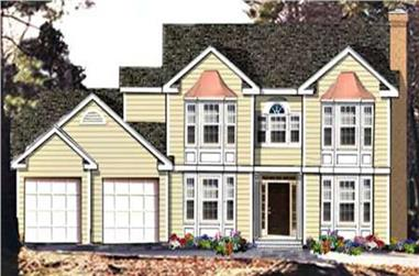 4-Bedroom, 2334 Sq Ft Traditional Home Plan - 105-1007 - Main Exterior