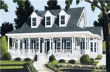 5-Bedroom, 2317 Sq Ft Country Home Plan - 105-1009 - Main Exterior