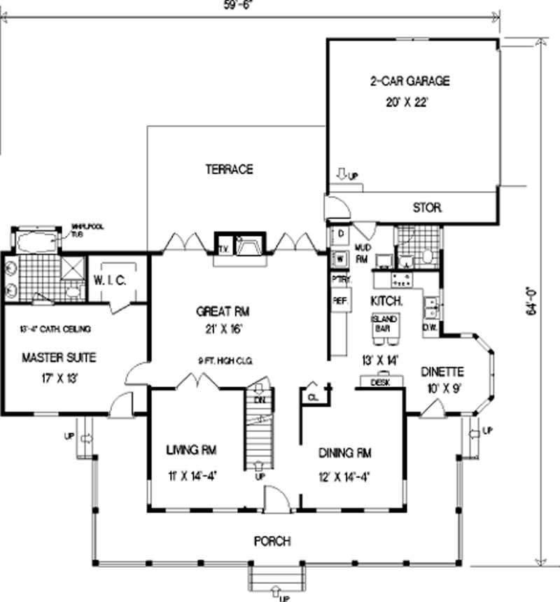 Country home with 5 bdrms 2317 sq ft floor plan 105 1009 for 105 plan