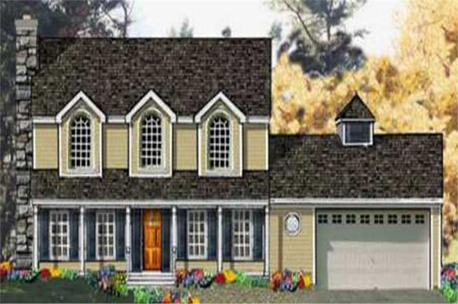 5-Bedroom, 2212 Sq Ft Colonial House Plan - 105-1012 - Front Exterior