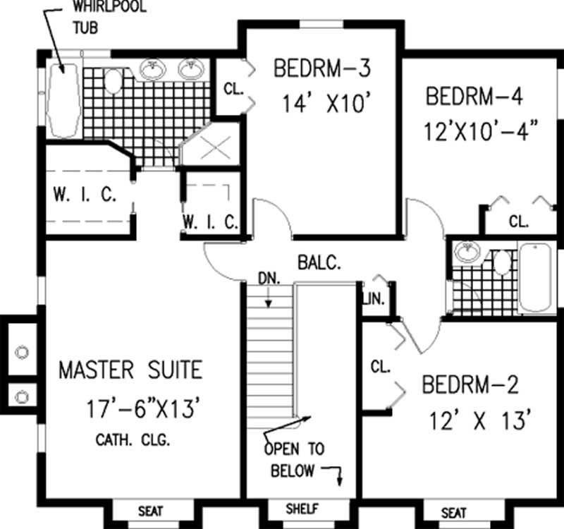 Colonial home with 5 bdrms 2212 sq ft floor plan 105 1012 for 105 plan