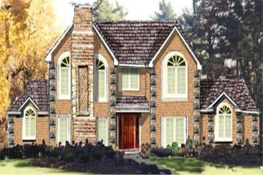 4-Bedroom, 2411 Sq Ft French Home Plan - 105-1013 - Main Exterior