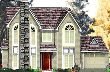 5-Bedroom, 2443 Sq Ft Traditional House Plan - 105-1014 - Front Exterior