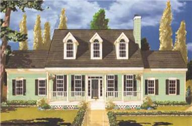 4-Bedroom, 2451 Sq Ft Country House Plan - 105-1015 - Front Exterior