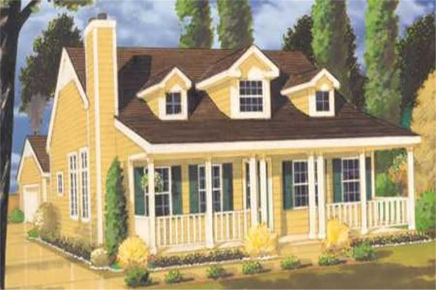 3-Bedroom, 1409 Sq Ft Country Home Plan - 105-1016 - Main Exterior