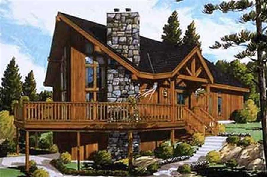 This is an artist's rendering of these small house plans # 9772