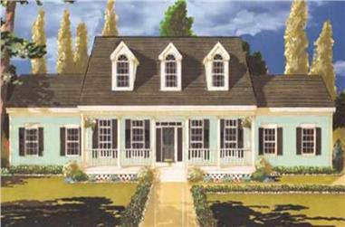 4-Bedroom, 2210 Sq Ft Country House Plan - 105-1020 - Front Exterior