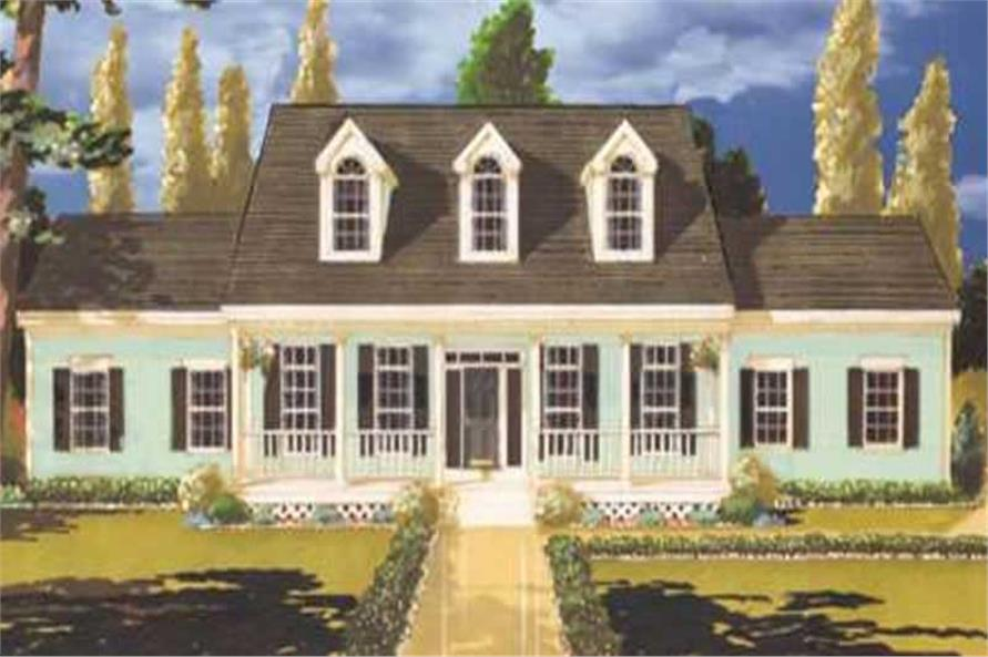 Main image for house plan # 9805