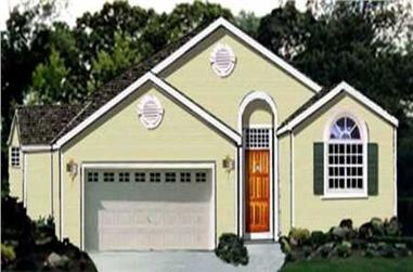 3-Bedroom, 1503 Sq Ft Ranch House Plan - 105-1021 - Front Exterior