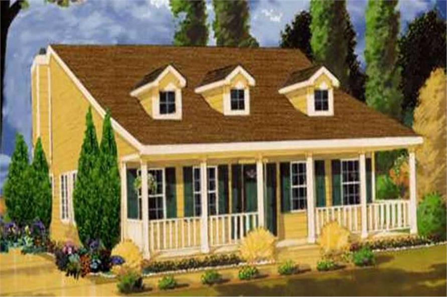 3-Bedroom, 1226 Sq Ft Country House Plan - 105-1023 - Front Exterior
