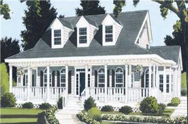 5-Bedroom, 2401 Sq Ft Country Home Plan - 105-1025 - Main Exterior