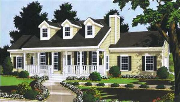 Main image for house plan # 9832