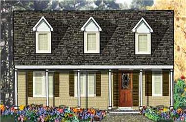 3-Bedroom, 1500 Sq Ft Country Home Plan - 105-1029 - Main Exterior