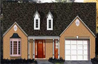3-Bedroom, 1528 Sq Ft Country House Plan - 105-1030 - Front Exterior