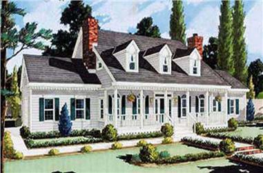 5-Bedroom, 2705 Sq Ft Country Home Plan - 105-1031 - Main Exterior
