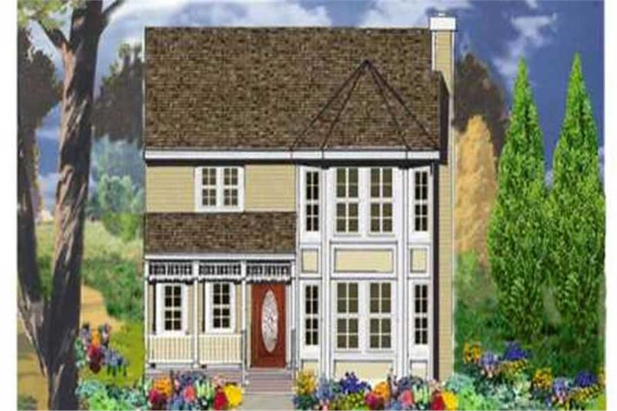 4-Bedroom, 1569 Sq Ft Country Home Plan - 105-1032 - Main Exterior