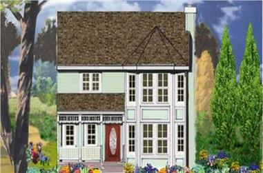 3-Bedroom, 1558 Sq Ft Country Home Plan - 105-1034 - Main Exterior