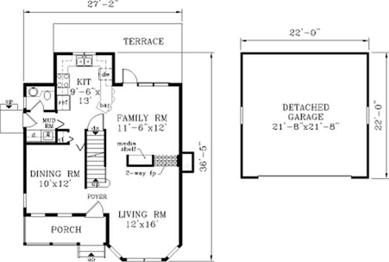Country Home With 3 Bdrms 1558 Sq Ft Floor Plan 105 1034
