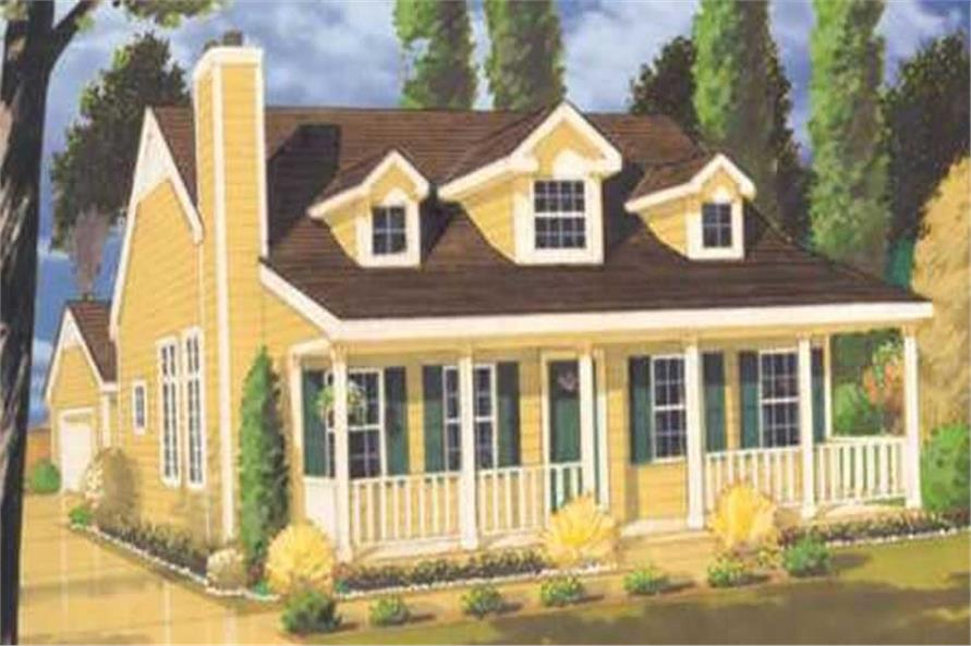 2-Bedroom, 1410 Sq Ft Country Home Plan - 105-1035 - Main Exterior