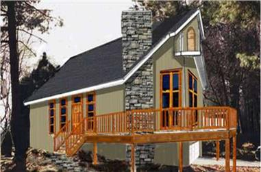 3-Bedroom, 1114 Sq Ft Vacation Homes Home Plan - 105-1036 - Main Exterior