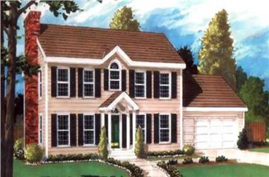 5-Bedroom, 2151 Sq Ft Colonial Home Plan - 105-1037 - Main Exterior