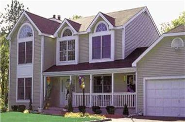 4-Bedroom, 2146 Sq Ft Country Home Plan - 105-1038 - Main Exterior