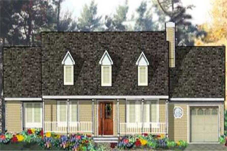 3-Bedroom, 1232 Sq Ft Country Home Plan - 105-1039 - Main Exterior