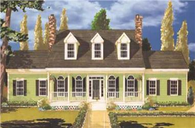 5-Bedroom, 2499 Sq Ft Country Home Plan - 105-1040 - Main Exterior