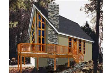 3-Bedroom, 1468 Sq Ft Vacation Homes Home Plan - 105-1041 - Main Exterior