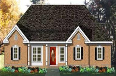 3-Bedroom, 1831 Sq Ft French House Plan - 105-1042 - Front Exterior