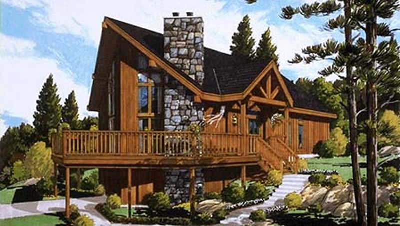 Log Cabin Small Home With 4 Bdrms 1306 Sq Ft Floor