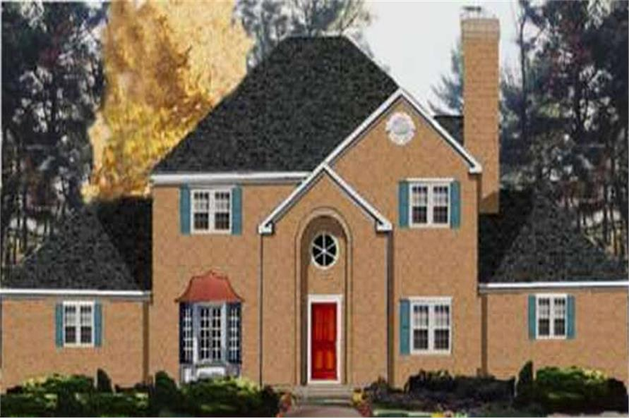 6-Bedroom, 2864 Sq Ft European Home Plan - 105-1044 - Main Exterior